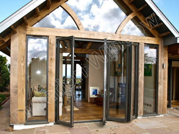 Continental aluminium folding doors gallery slim for Large folding patio doors