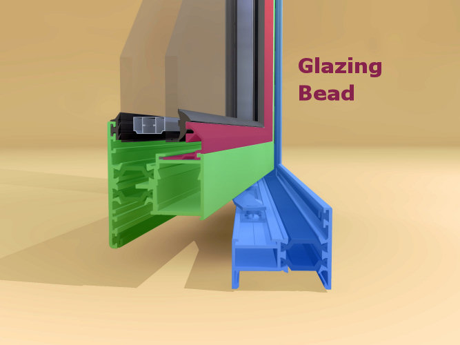 Vinyl Window Glazing : Aluminum window vinyl glazing bead