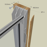 Secondary Glazing - Subframe option for face fixing