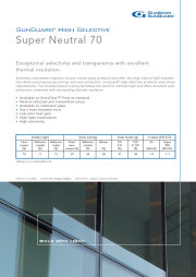 SunGuard 70, Solar Control Glass Brochure
