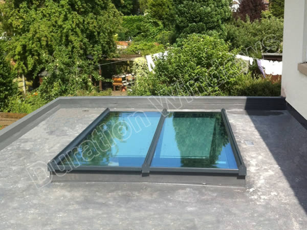 Aluminium Flat Low Roof Light