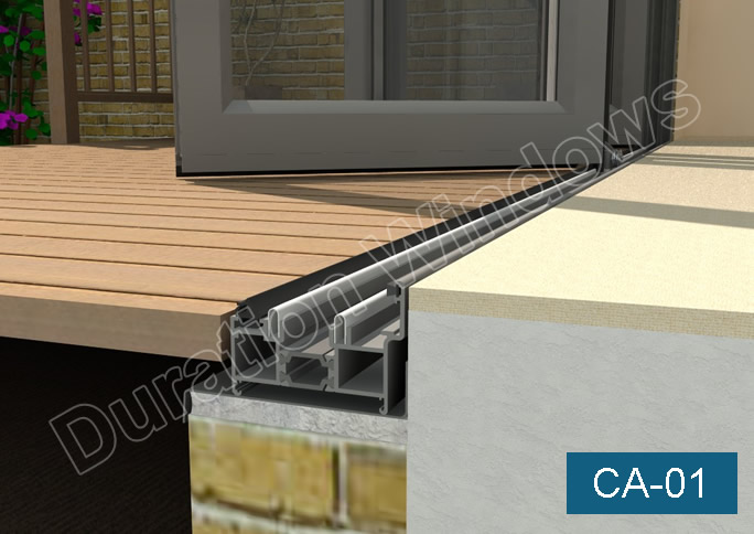Open Out Standard Threshold CA-01 & Continental Folding Doors | Threshold Options | Low Thresholds ... pezcame.com