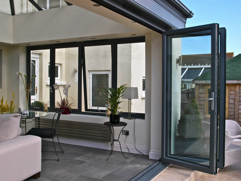 Aluminium Bi Folding Doors | Folding Sliding Doors | Bifold Doors |  Duration Windows