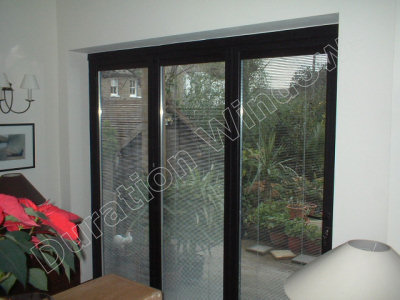 Push Block Operated Integrated Blinds