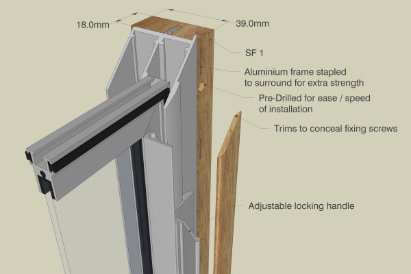 secondary glazing  luxury subframe system