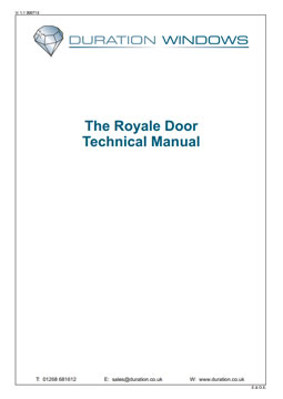 The Royale Door  sc 1 st  Duration Windows & Technical Support | Technical Document Downloads | Aluminium Doors ... pezcame.com