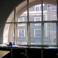 secondary curved glazing