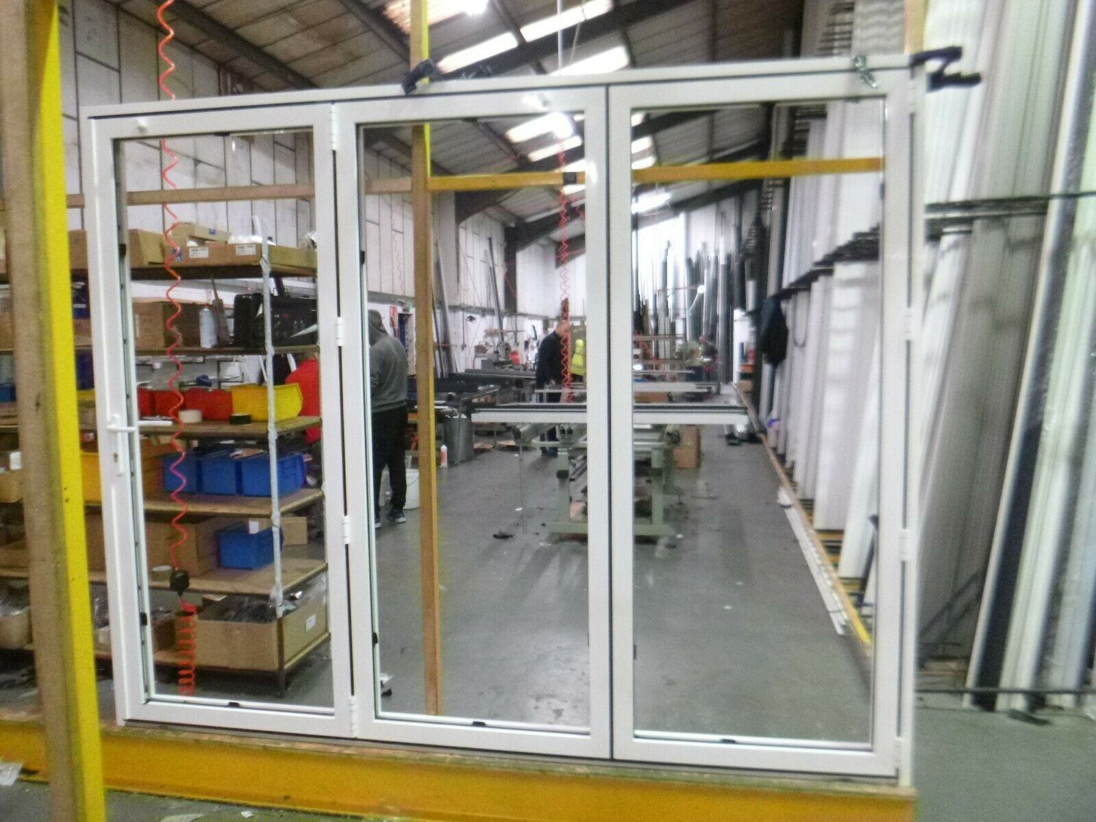 Bifolding Door 9010 White Inside and Outside