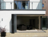 Bifold Door Floating Corner Posts