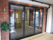 New Flush Glazed Continental Bifold Doors